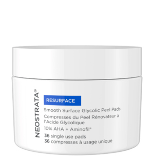 smooth surface glycolic peel pads for home-use ideal for early and premature ageing skin